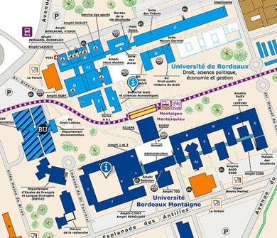 visuel Carte du campus de Pessac