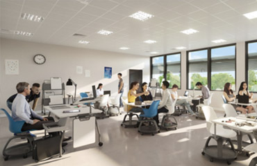 visuel 3 vue projetée du bâtiment Université de Bordeaux