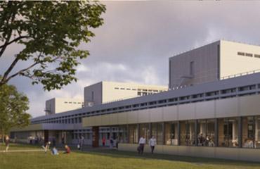 visuel Façade Nord avec ses extensions en rez de chaussée et ses nouvelles entrées